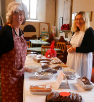 Sue Joseph & Sue Humby at Trinity FUNders 'Bakery'